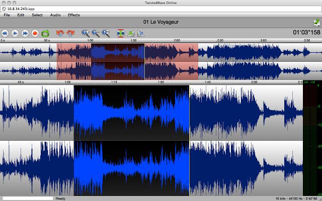 TwistedWave, an Audio Editor