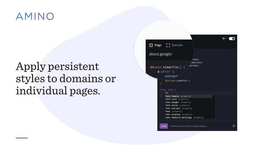 Amino: Live CSS Editor