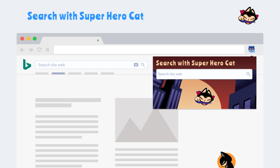 Search with Super Hero Cat
