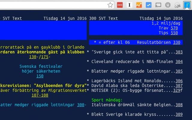 TextTV.nu - nyheter från SVT Text