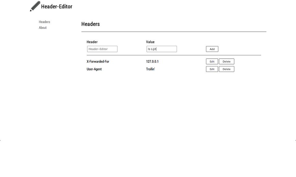 Header-Editor