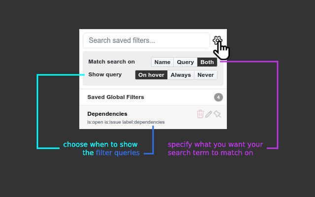 Github Saved Filters