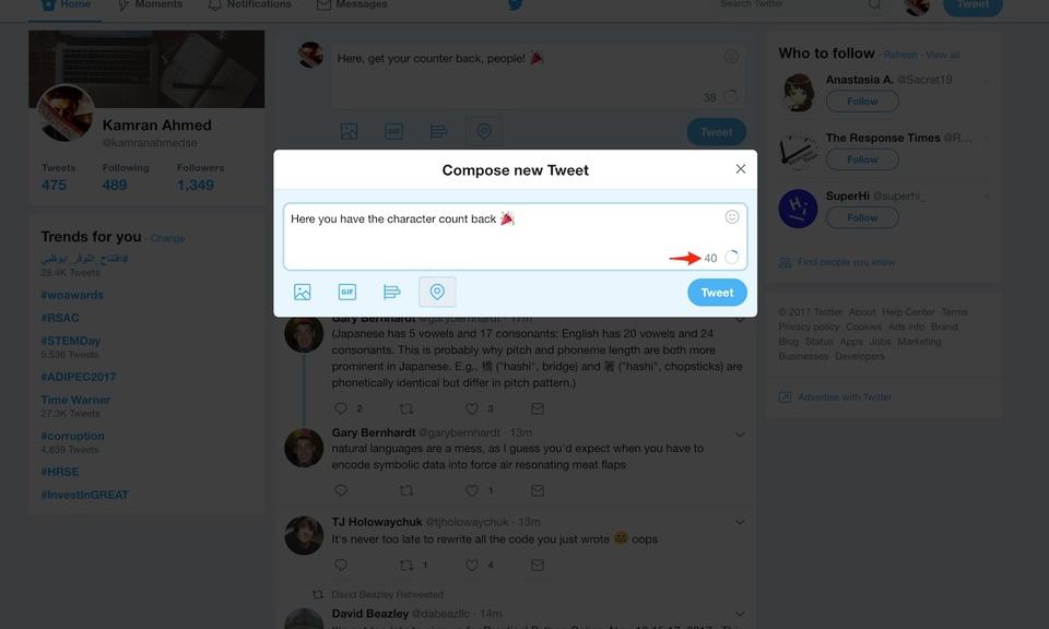 Tweet Counter