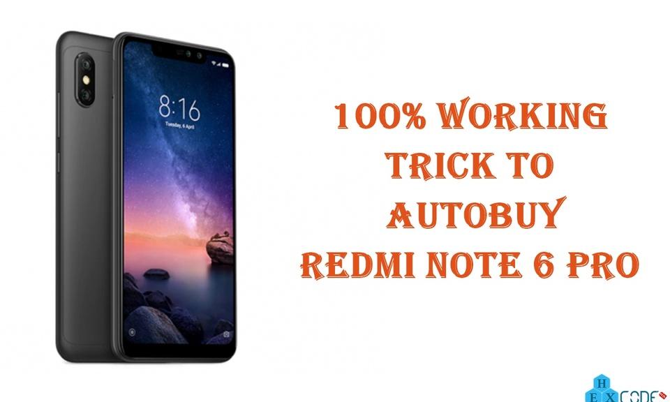 Hexcode Flash Sale - AutoBuy Redmi Note 7 Pro