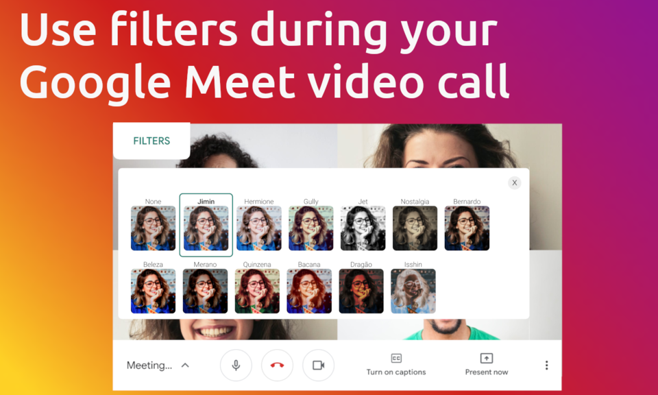 Filters for Google Meet