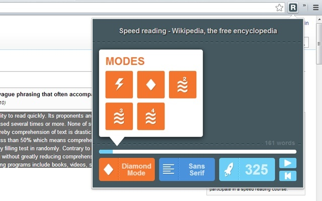 Read fast - Speed Reading Extension