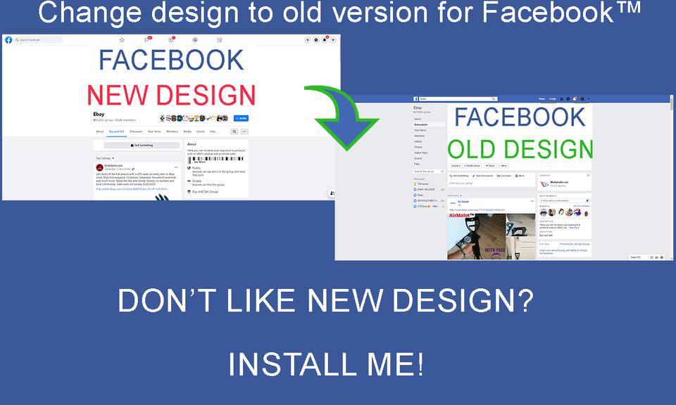 Change design to old version for Facebook™
