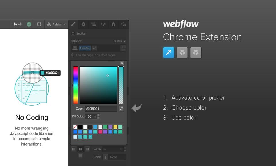 Webflow Chrome Extension - 网页设计工具