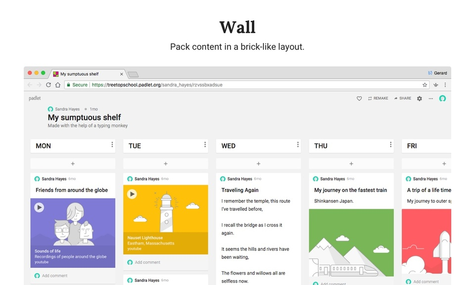 Padlet-共享协作建站工具