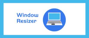 Window Resizer插件,自定义Chrome浏览器窗口大小及位置