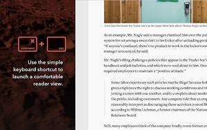 Mercury Reader插件, 开启网页阅读模式