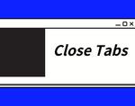 Close Tabs插件,Chrome标签页关闭管理插件,关闭当前网页左侧标签页