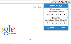Streamkeys插件,网页在线音乐播放控制器,支持快捷键