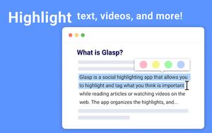 Glasp - Social Web Highlighter插件,网页文本高亮荧光笔