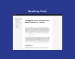 Fika Reader Mode插件,一键切换网页阅读模式