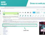Web paint插件,网页绘图工具,支持屏幕截图