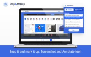 Snap and Markup插件,一键网页截图,支持在线编辑