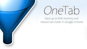 OneTab插件,标签页合并分组管理,减轻浏览器内存