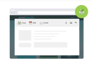 Print Friendly & PDF插件,网页打印排版编辑工具