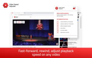 Video speed adjuster插件,视频加速播放,支持广告加速