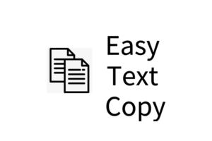 Easy Text Copy插件,快速一键复制网页文本