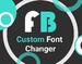 自定义字体换插件,更换/缩放网站字体及字体颜色