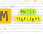 Multi-highlight插件,在网页中查找且高亮任意词语/短句,并记录查找内容