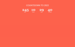 2022New Year Countdown插件,2022年倒计时日历
