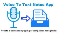 Voice To Text Notes App,Chrome语音转文字插件,通过语音识别创建文本笔记