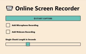 Online Screen Recorder插件,免费录制屏幕支持保存视频/gif