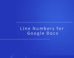 Line Numbers for Google Docs插件,为谷歌文档增加行编号插件