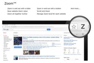 Zoom for google chrome插件,通过缩放控制网页显示大小