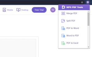 WPS PDF Tools插件,PDF文档格式转换、编辑工具