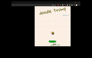Doodle Jump Trump插件,涂鸦跳跃游戏特朗普版