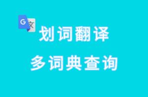 划词翻译:多词典查询油猴脚本,内置谷歌翻译、有道翻译等