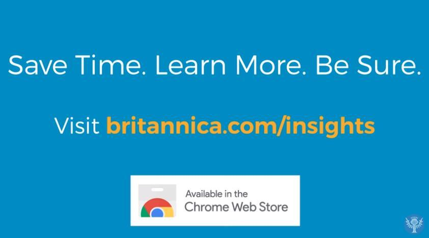 Encyclopaedia Britannica Group Launches Free Chrome Browser Extension