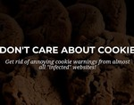 关闭cookie插件:我不关心cookie啊!别再给我提示了好吗!