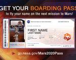 NASA又发火星船票了!把你的名字送上太空!