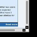 Grey Scrollbar with buttons - LOGO
